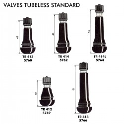 VALVES TUBELESS STANDARD
